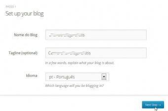 Passo 3 - Configurando seu Blog no WordPress