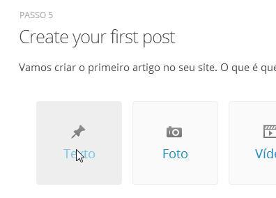 Passo 7 - Criando primeiro Post