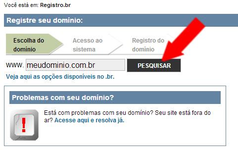 Verificar disponibilidade do Dominio para registrá-lo