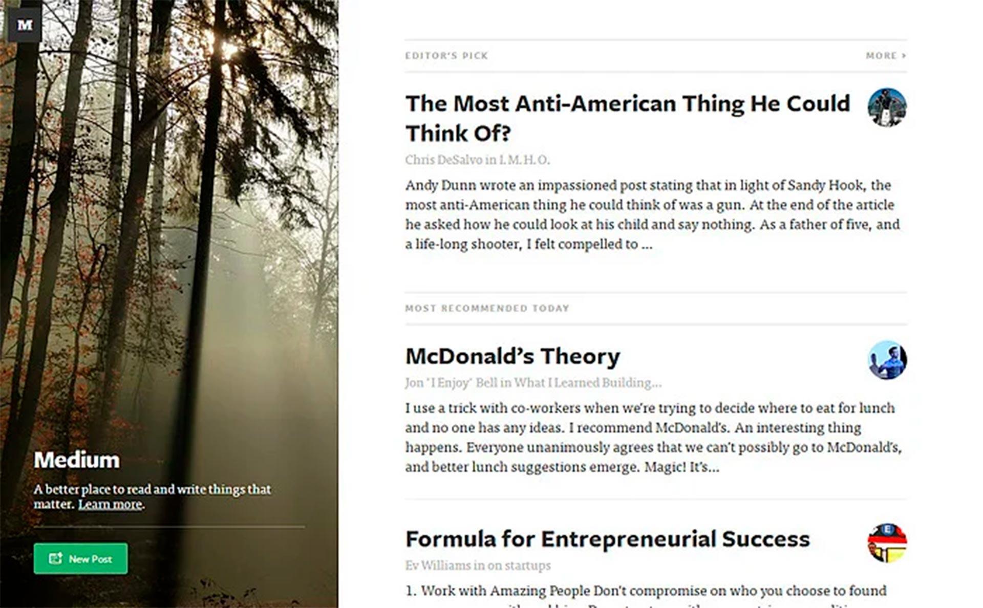 plataforma de blog gratuita medium