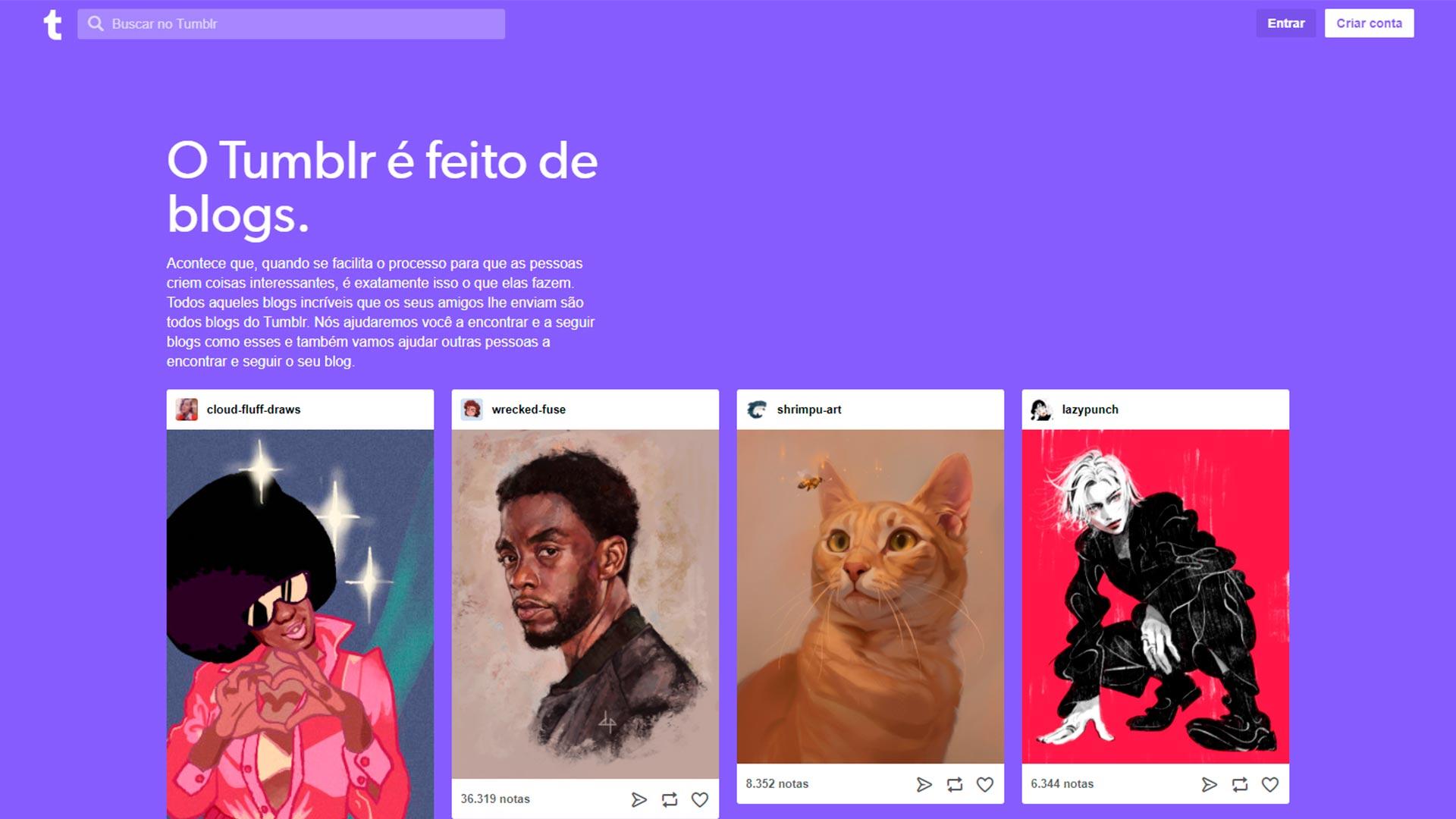 plataforma de blog gratuita tumblr